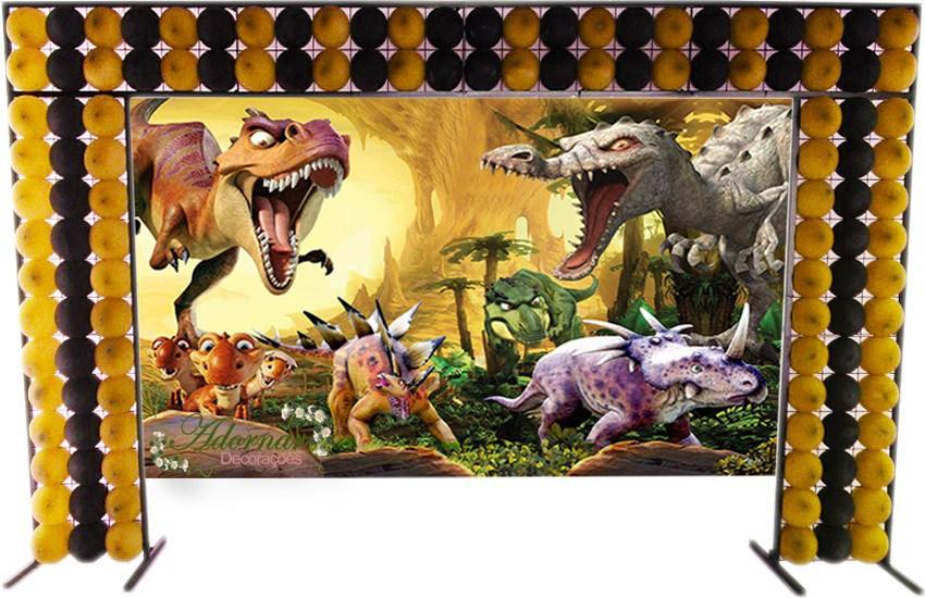aluguel decoração dinossauro tema completo