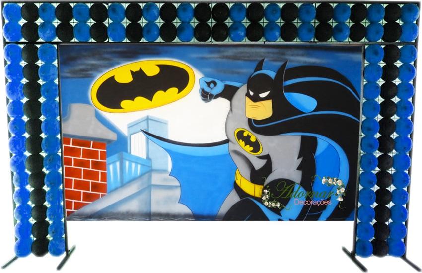 aluguel decoração batman tema completo