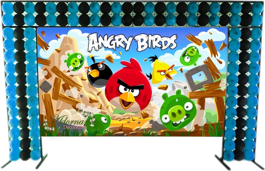 aluguel decoração angry birds tema completo