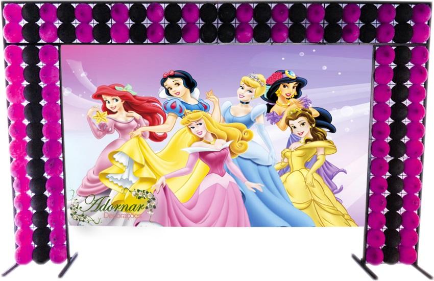 aluguel decoração princesas disney tema completo