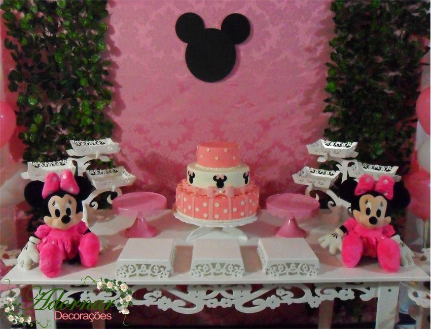 Aluguel Decoração Minnie Rosa Tema Completo