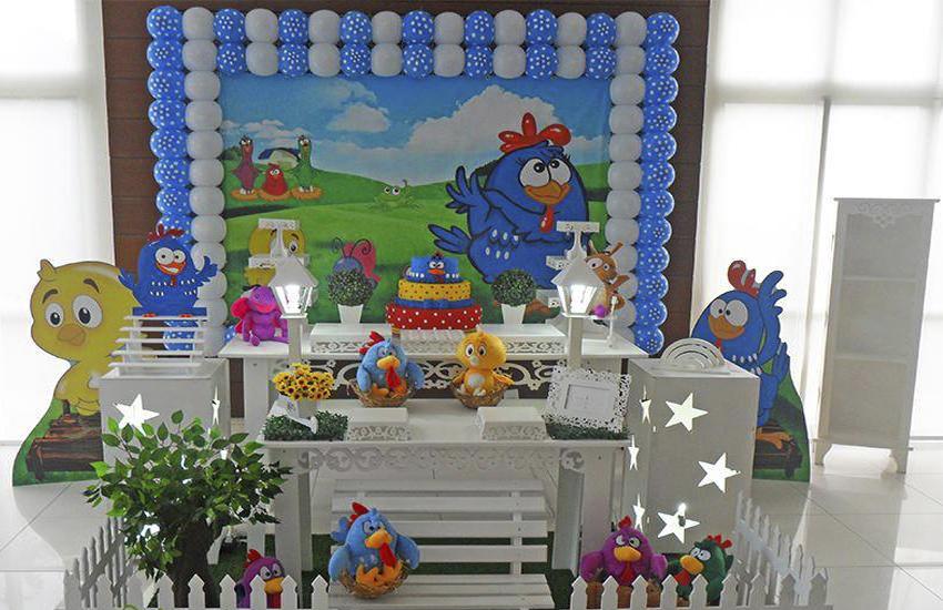 aluguel decoração galinha pintadinha tema completo
