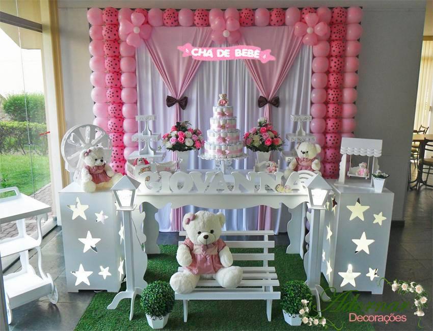 Aluguel Decoração Chá de Bebê Tema Menina