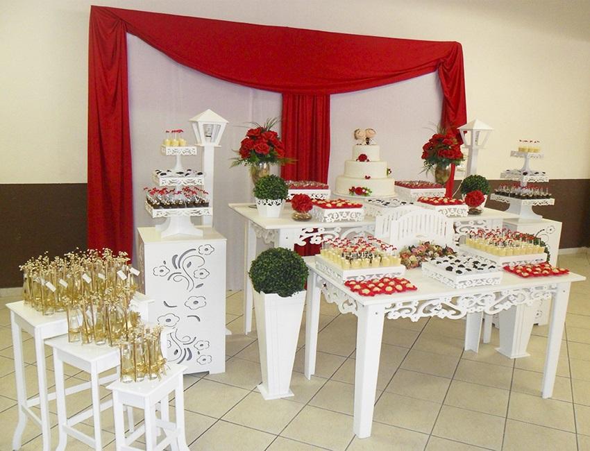 decoracao moveis branco:Aluguel Decoração Casamento Noivado Vermelho e Branco