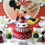 Aluguel Decoração Minnie Vermelha Tema Completo em Provençal