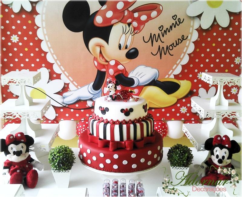 Aluguel Decoração Minnie Vermelha Tema Completo Festa Provençal
