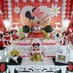 aluguel decoração minnie vermelha tema completo