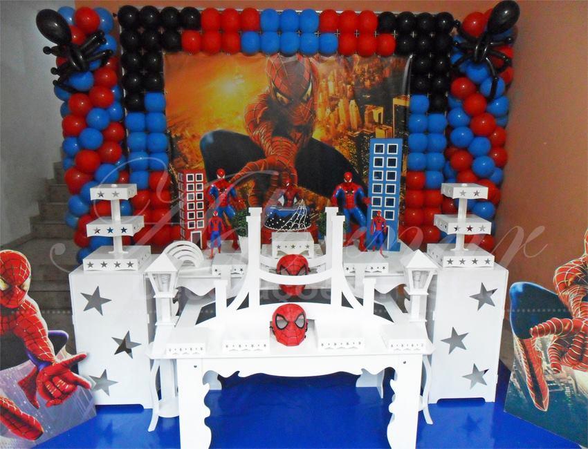 Aluguel Decoração Homem Aranha Tema Completo