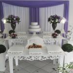 Aluguel Decoração Casamento Noivado Lilás e Branco