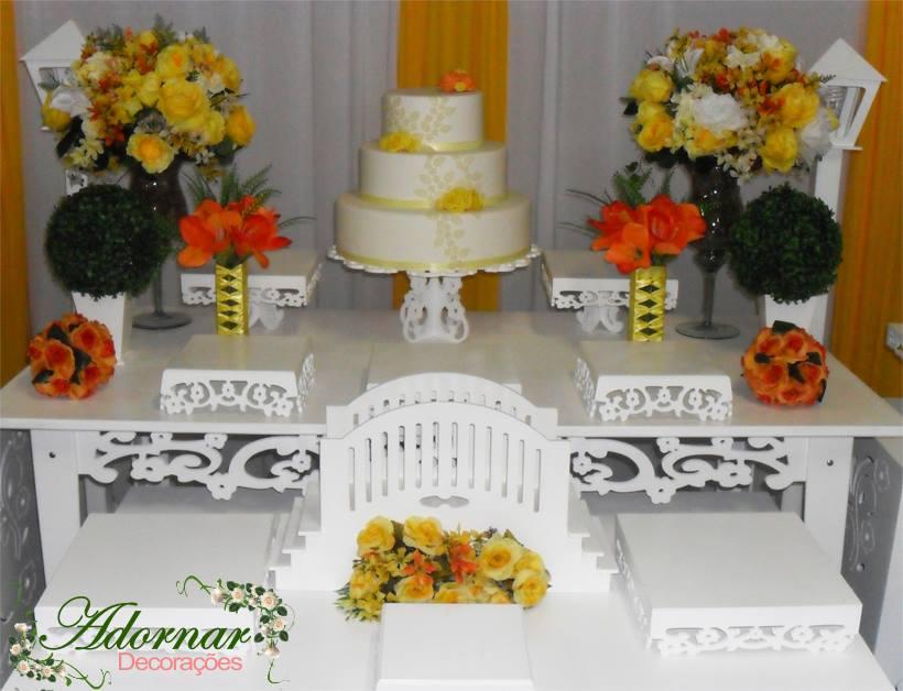 decoracao azul e amarelo noivado:Decoração-de-Casamento-e-Noivado-Amarelo-e-Laranja-Foto-1.jpg