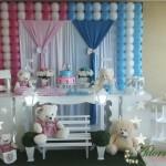Aluguel Decoração Chá de Bebê Revelação Rosa e Azul