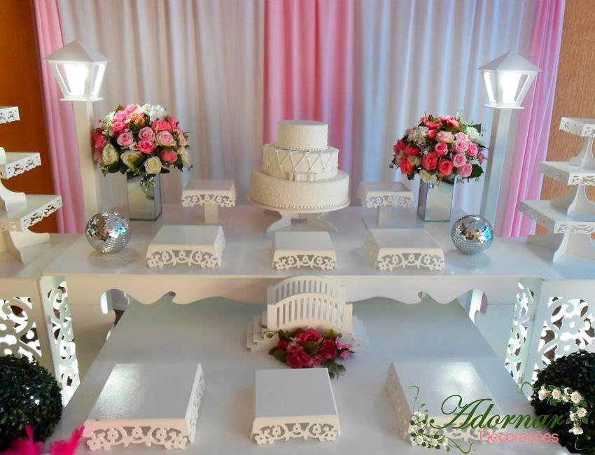 Aluguel Decoração Para Festa de 15 e 18 Anos Rosa e Branco