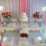 Aluguel Decoração Para Festa de 15 Anos Rosa e Branco
