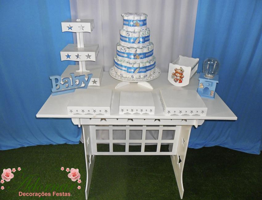 Decoração Kit Provençal Festa Chá de Bebê Kit Azul