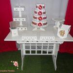 Decoração Kit Provençal Festa Chá de Bebê Kit Vermelho