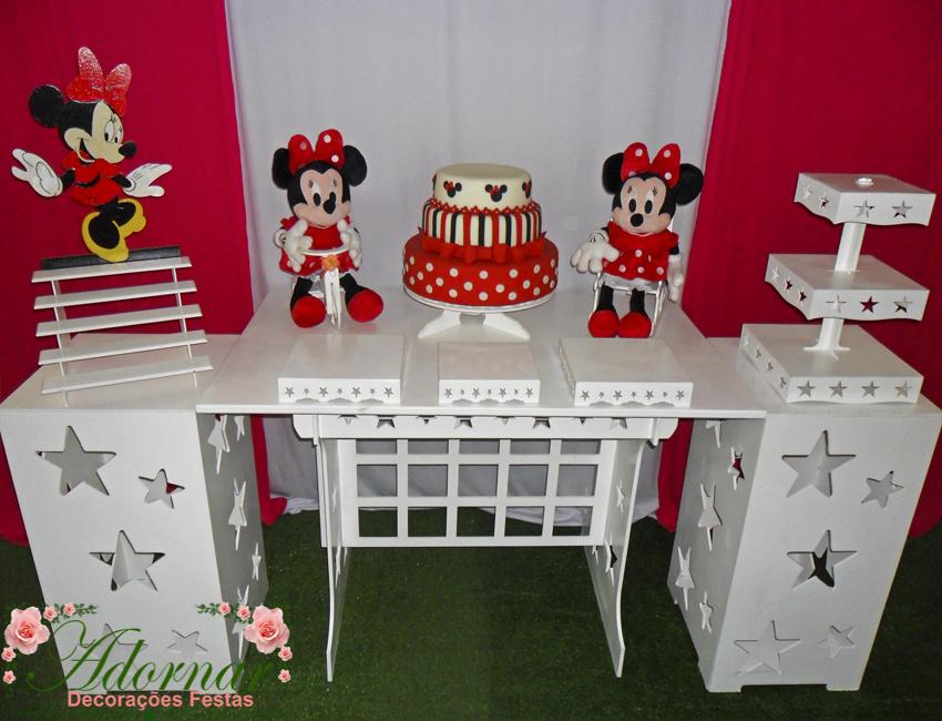 Decoração Kit Provençal Festa Infantil Minnie Vermelha