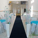 Aluguel Decoração Corredor de Cerimônia Azul Tiffany