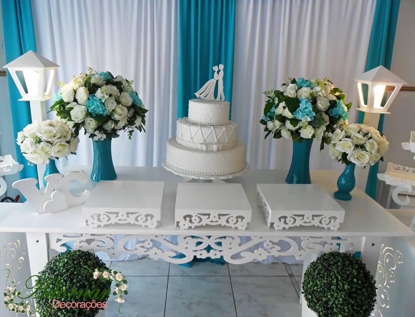 Aluguel Decoraç u00e3o Casamento Noivado Azul Tiffany em Provençal