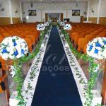 Aluguel Decoração Corredor de Cerimônia Azul Royal Marinho e Branco