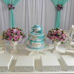 aluguel decoração para festa chá de cozinha verde claro e lilás