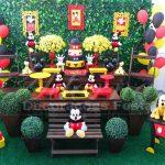 Aluguel de Decoração do Mickey Mouse Mesa do Bolo Rústica